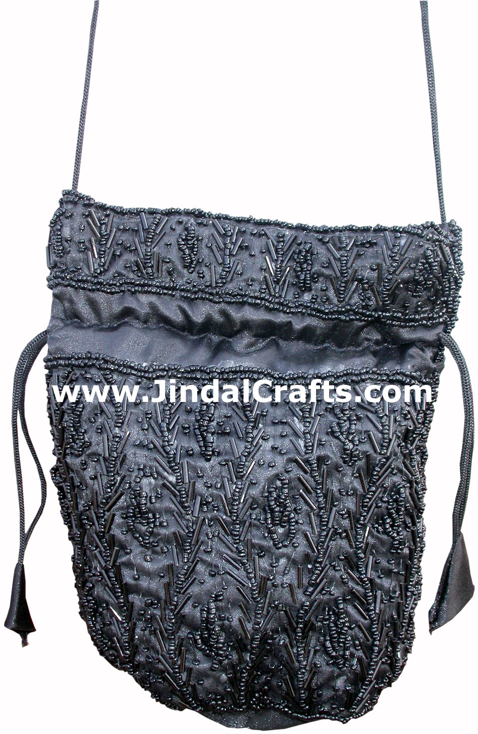 Hand Embroidered Beaded Traditional Shoulder Purse Potli from India