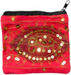 Hand Embroidered Design Pattern Pouch India Handicraft