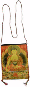 Hand Made Cotton Fabric Traditional Shoulder Passport Handbag from India