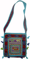 Handmade Colourful Traditional Shoulder Cotton Fabric Handbag from India