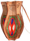 Hand Embroidered Camel Leather Purse India Traditional