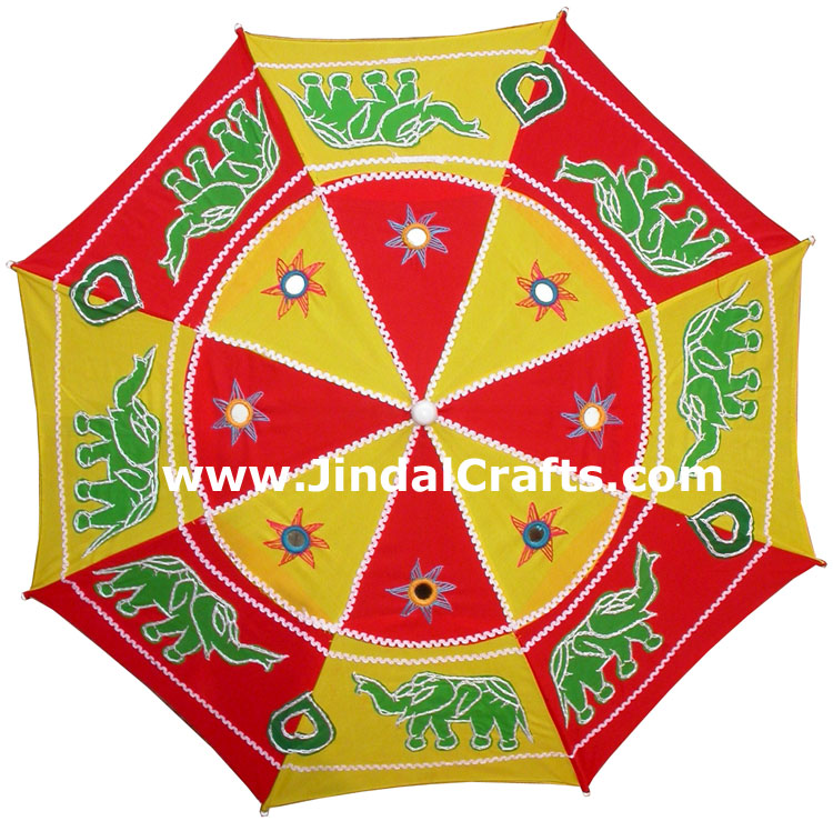 Hand Embroidered Colourful Traditional Sun Umbrella