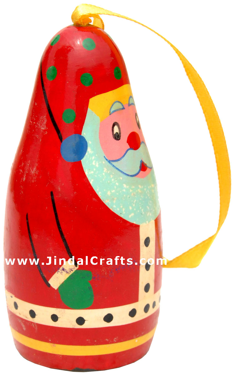 Hand Painted Wooden Santa Claus Decorative Hangings