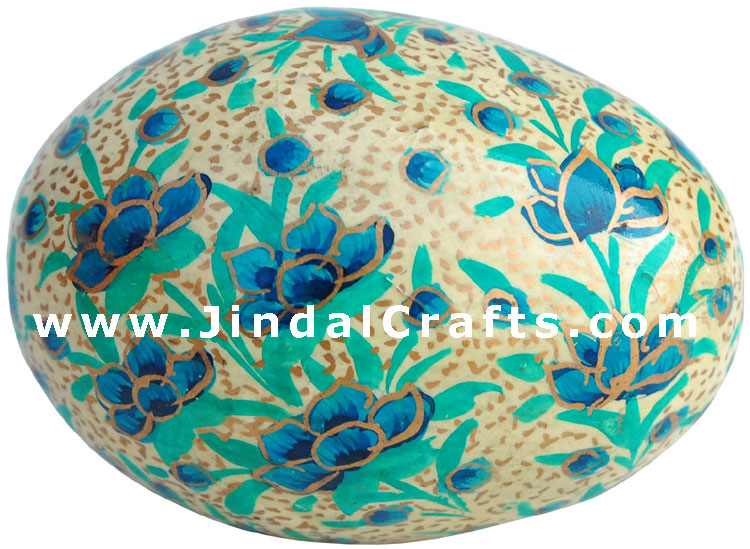 Handmade Papier Mache Decorative Painted Easter Egg