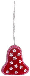 Embroidered Beaded Christmas Ornaments Bell