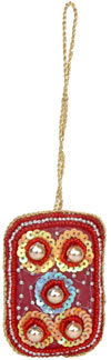 Embroidered Beaded Christmas Ornaments