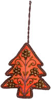 Beaded Ornaments Hand Embroidered Xmas Holiday Gift Art