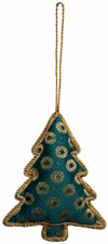Hand Embroidered Beaded Zari Zardozi Christmas Ornaments Holiday Decoration Art