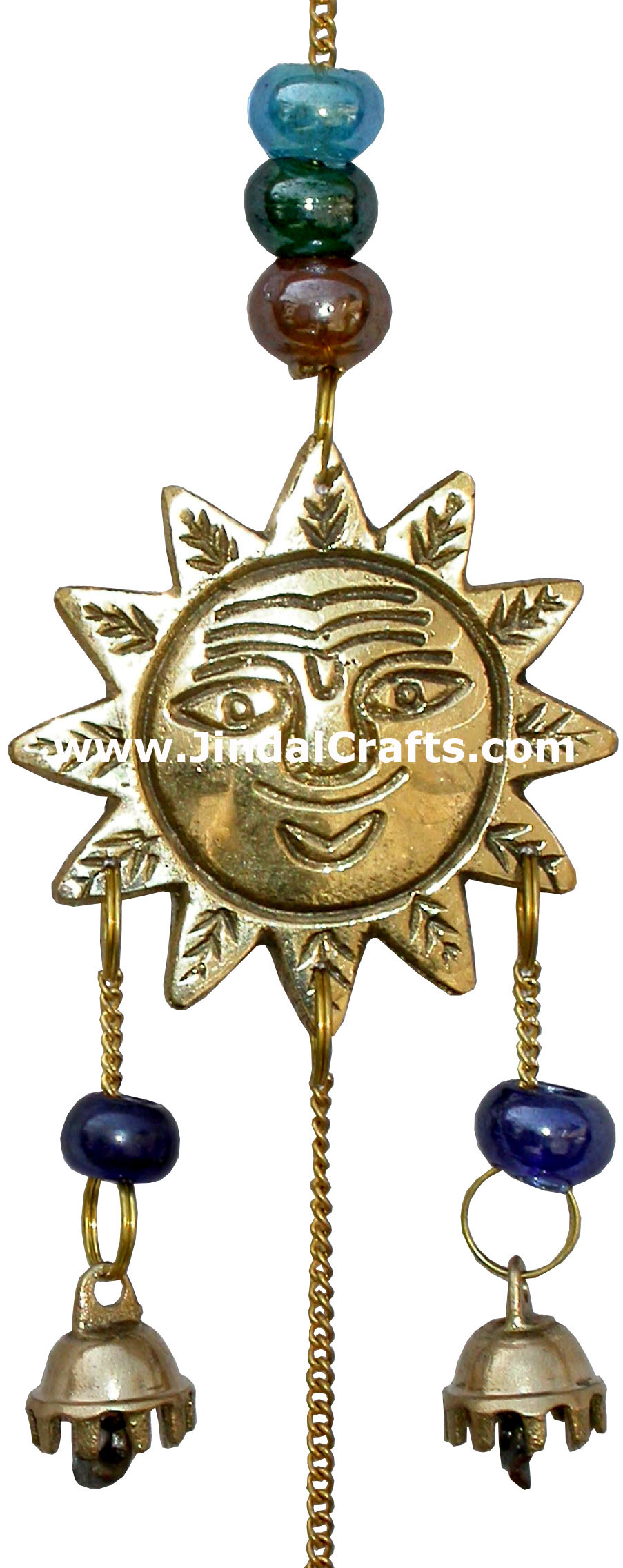 Brass Made Good Luck Home Decor Sun Moon Star Wind Chimes
