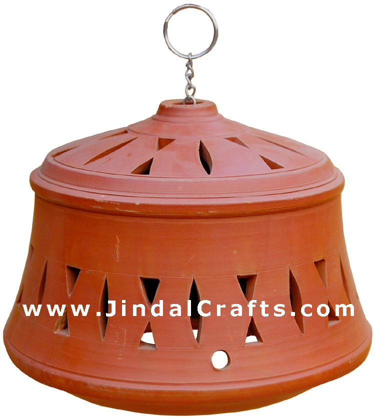 Lampshade Handcrafted Terracotta Artifact from India