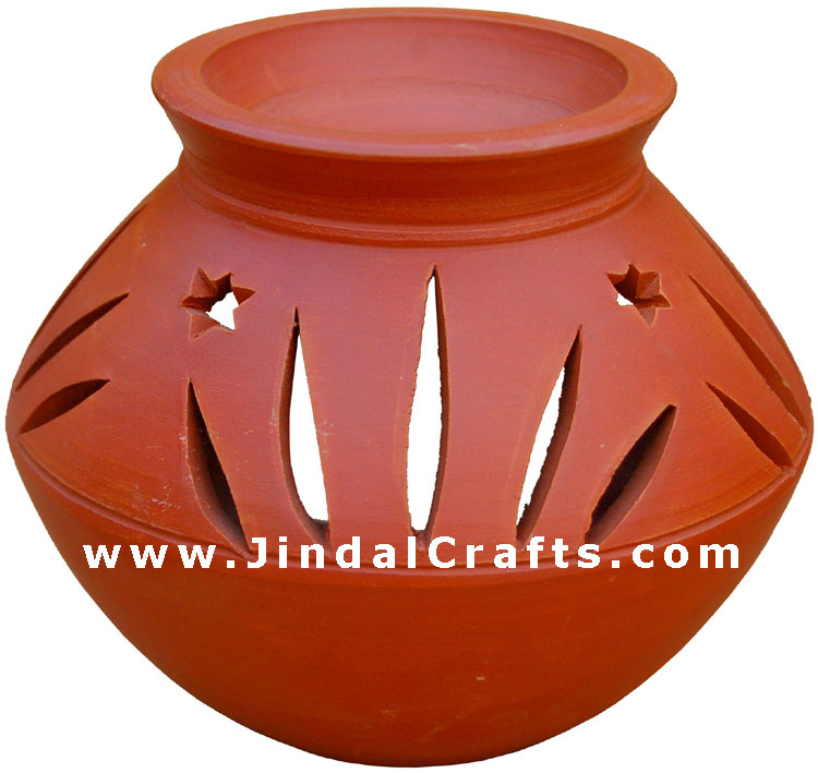 Tealight Candle Holder Handcrafted Terracotta Artifact