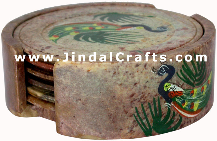 Drink Coasters - Hand Painted Stone made Traditional