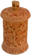 Hand Carved Multi Purpose Wooden Box India Fair Trade