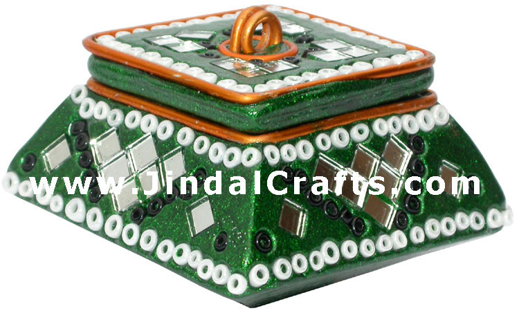Lac Made Decorative Trinket Boxes Traditional Indian Hand Work Handicrafts Craft