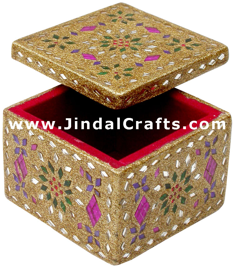 Decorative Jewellery Boxes Beauteous Lac Decorative Jewelry Box Indian Rich Crafts Design Inspiration