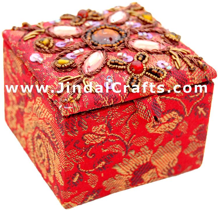 Jewelry Box - Hand Embroidered Designer Beaded Jari