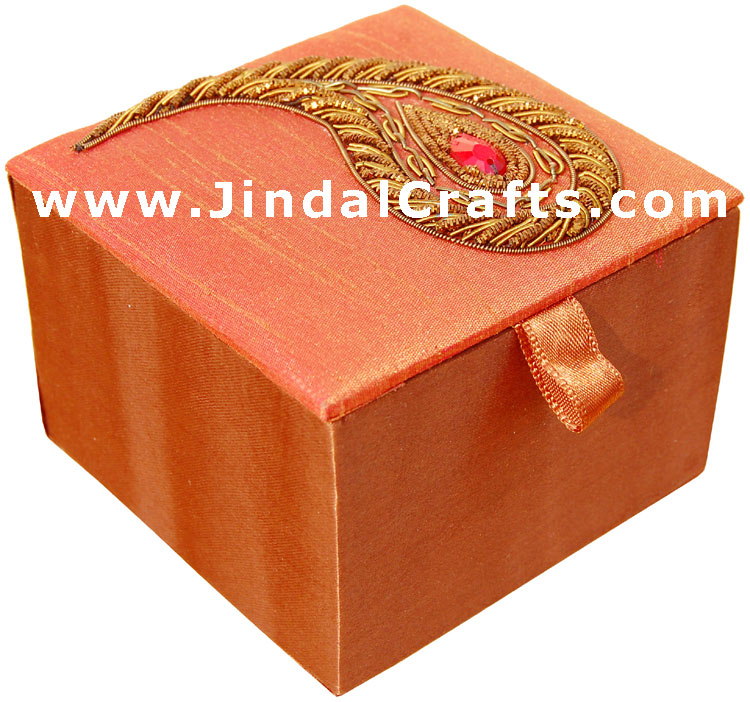 Hand Embroider / Beaded / Jari / Zari Paisley Box