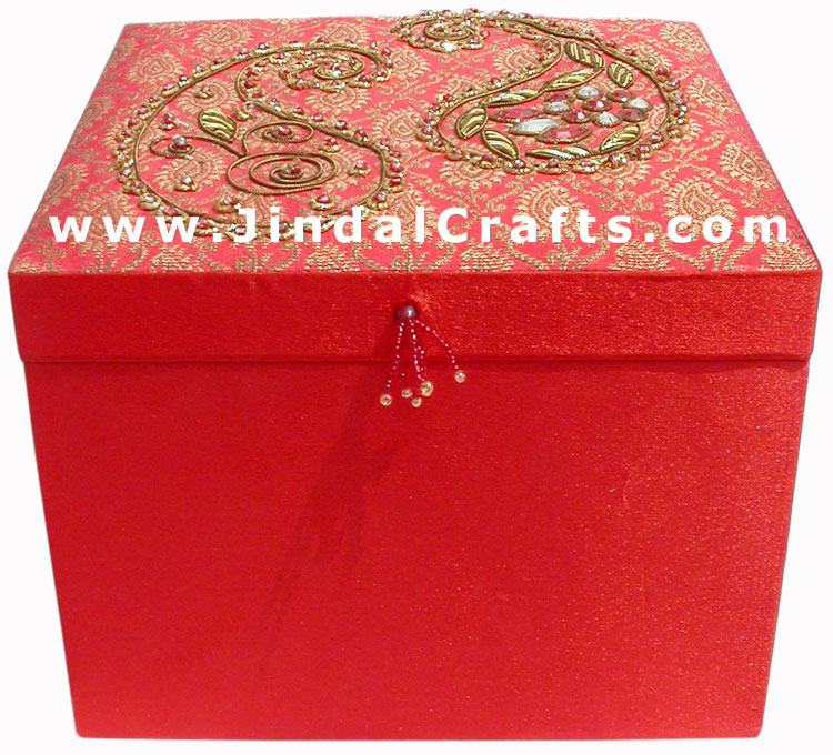 Hand Embroider Beaded Jari Zari Decorative Bangle Box