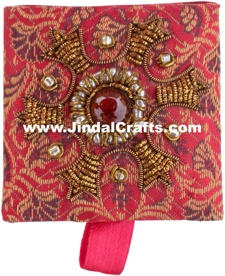 Colourful Hand Embroidered Designer Gift Box Indian Handicrafts Gifts Crafts