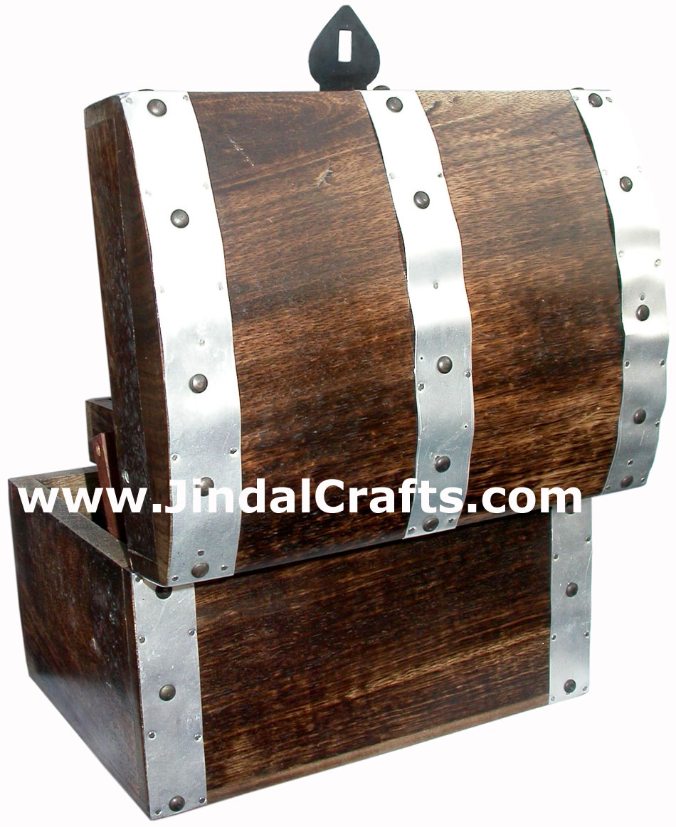 Hand Carved Wooden Multi Purpose Chest Box Rich Indian Handicraft Art Craft