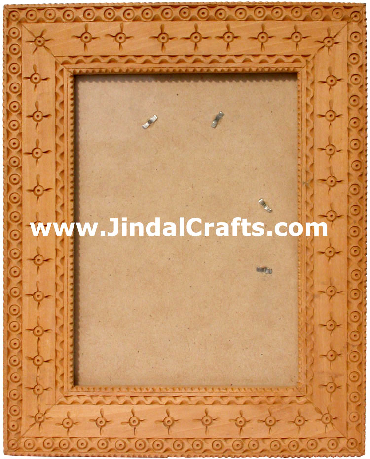 Photo / Mirror Frame  - Handcarved Wooden Indian Art