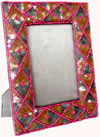 Photo Frame Hand Embroidered Beaded Jari Zari Home Decor Designer Picture Frame