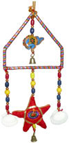 Handmade Tradition Star Elephant Shell Triangle Hanging