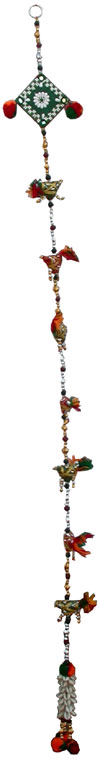 Pair of 2 Pieces - Colourful Handmade Door Hanging Home Decor Indian Handicrafts