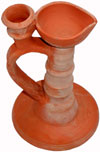 Hand Made Terracotta Oil Lamp Candle Holder Indian Tribal Artifact Handicrafts