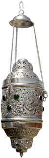 Hand Carved Silver Plated Traditional Lampshade India