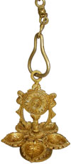 Brass Hanging Lamp - Indian Rich Traditional Handicrafts Crafts Art Diwali Gift