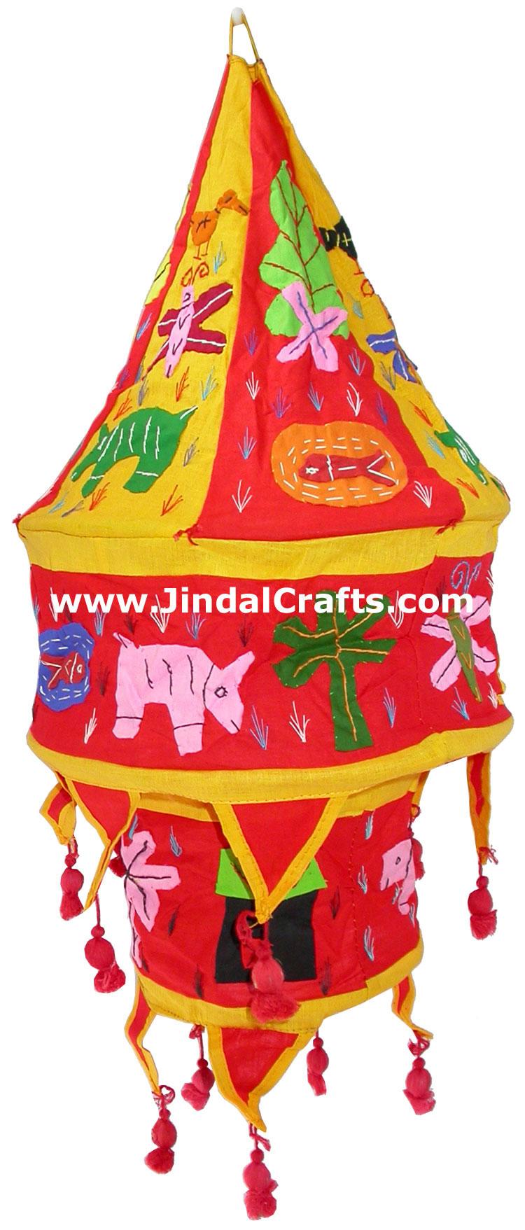 Handmade lampshade applique design for home decoration for Applique decoration