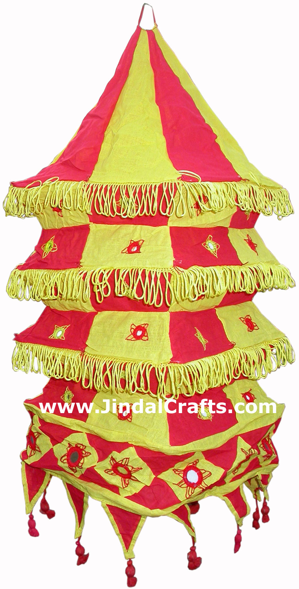Colourful Fabric Lamp Shade Hand Made Rich Art Craft