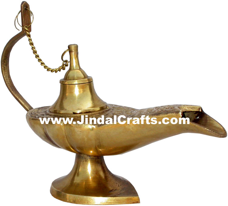 Magic Lamp Aladdin Disney Chirag Metal Craft Home