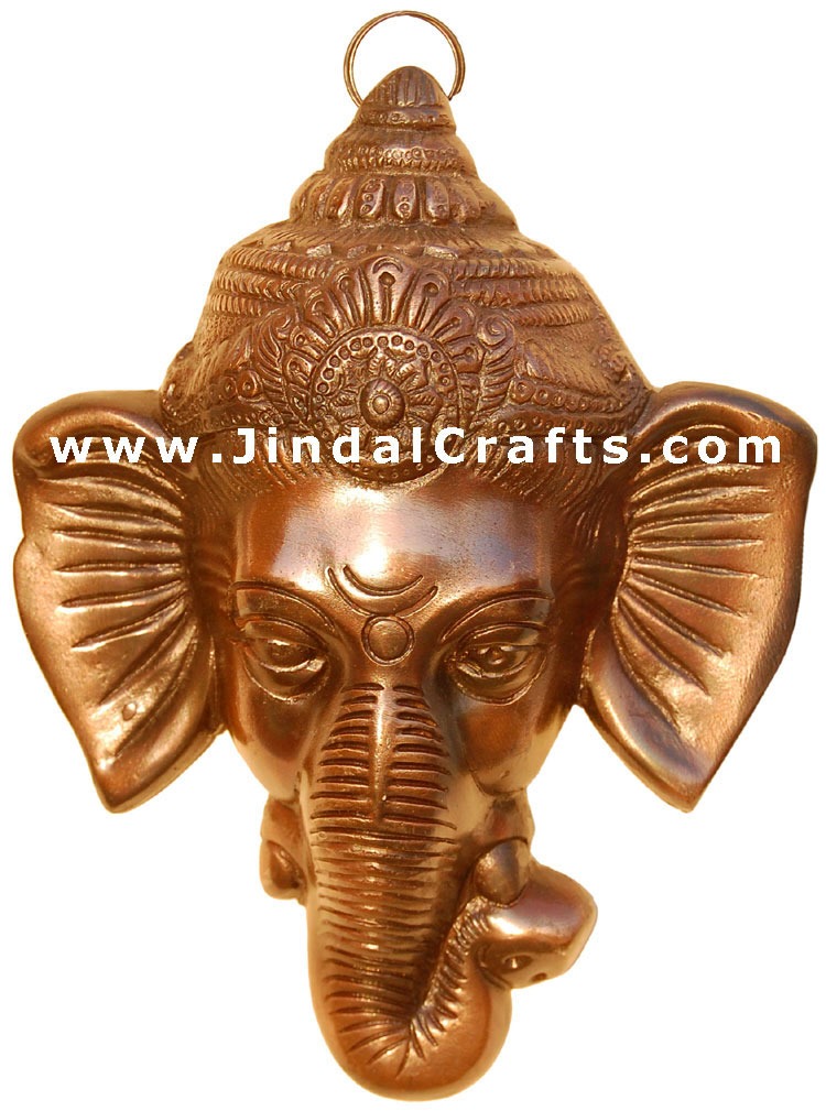 Lord Ganesha Mask - Wall Decor Arofact from India Art