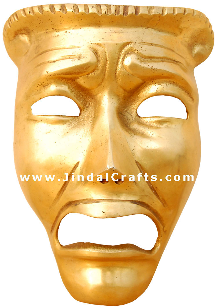 Antique Finish - Home Wall Decor Expression Mask Indian Traditional ...