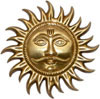Brass Sun Mask India Carving Artifacts Arts