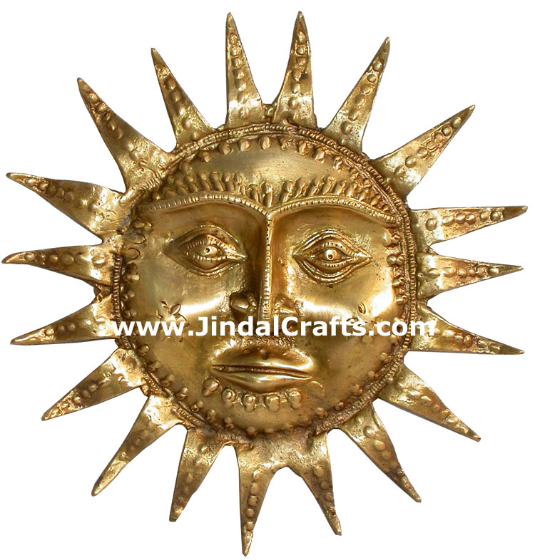 God Sun Hand Crafted Metal Art India Religious Figures