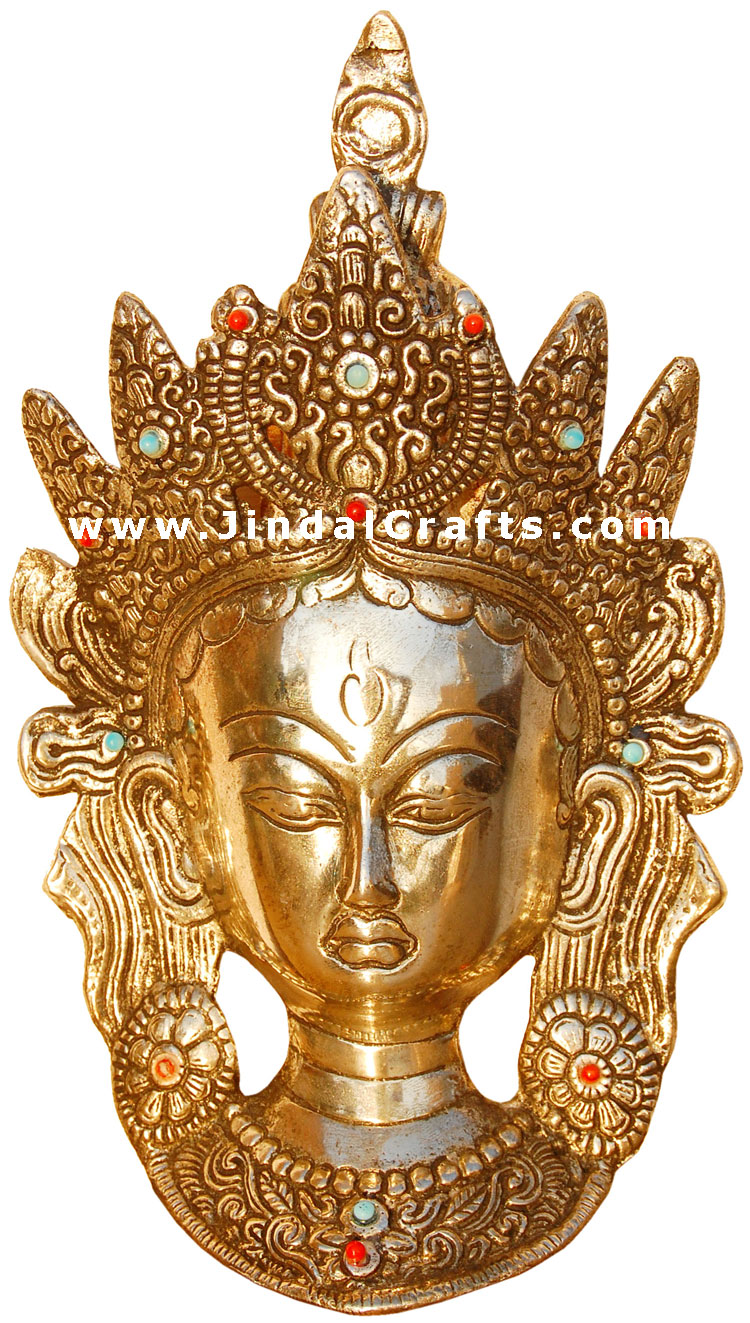 goddess tara mask wall decor artifact from india art. Black Bedroom Furniture Sets. Home Design Ideas