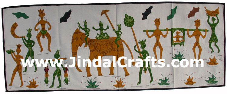Wall Hanging - Handmade Applique Patch Work from India