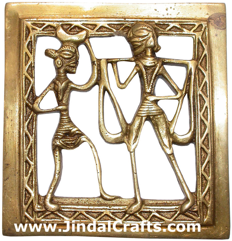 Brass Tribal Wall Hanging India Artifacts