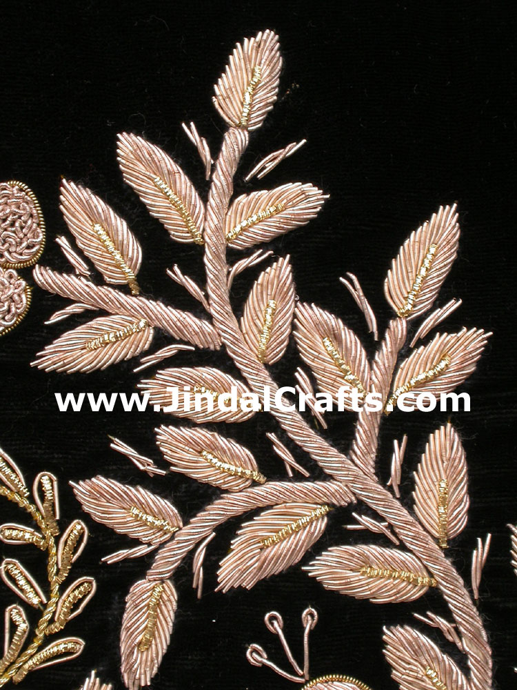 Cushion Cover - Hand Embroidery Jari Zari Work India