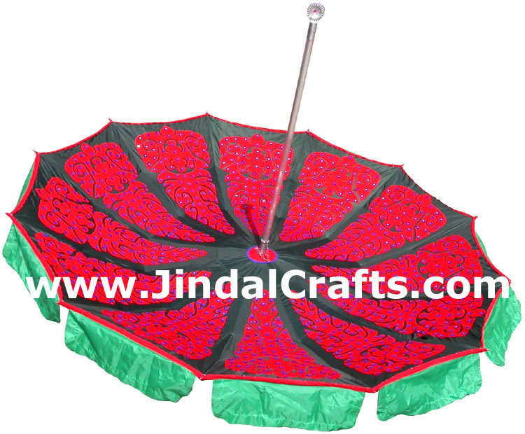 Water Proof Colorful Embroidered Garden Umbrella India