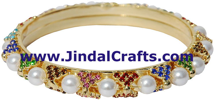 Bangles Pair - Swaroski Crystals Artificial Jewelry