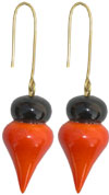 Hand Crafted Hand Painted Wooden Earrings India Arts