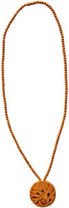 Wooden Bead Pendent Mala - Wooden Fashion Jewelry India