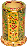 Pen Holder Wood Hand Crafted Hand Painted India Art wow