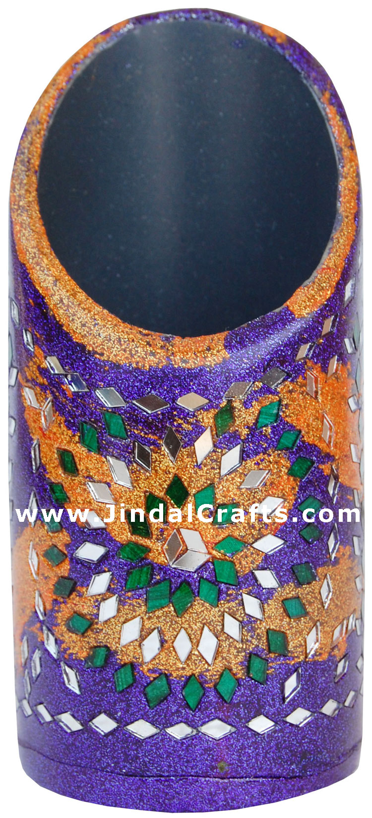 Handmade Decorative Lac Pen Stand from Indian Arts. Decorative Lac Pen Stand from Indian Arts