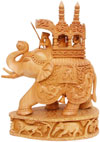 King Hunting in Jungle on Elephant India Sculpture Art