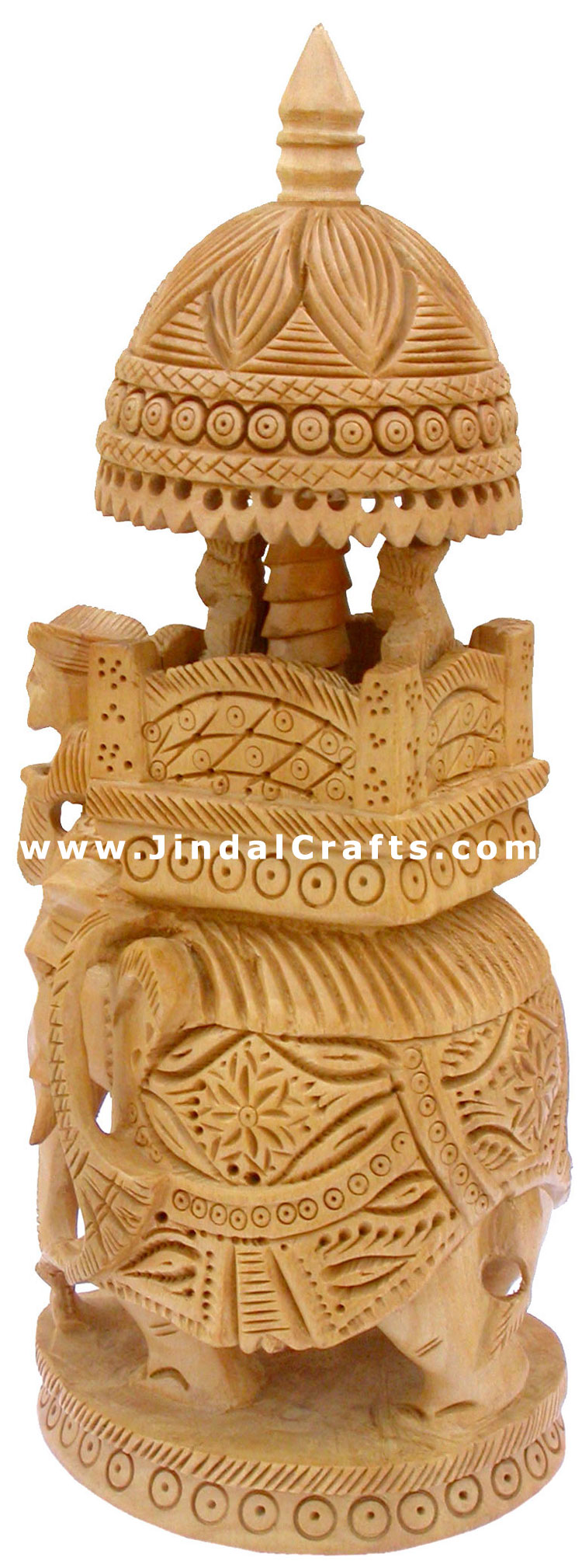 Hand carved wooden royal king s jungle safari india art